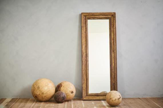 Cream Full Length Mirror 24 x 60 Floor Mirror Reclaimed Architectural Elements