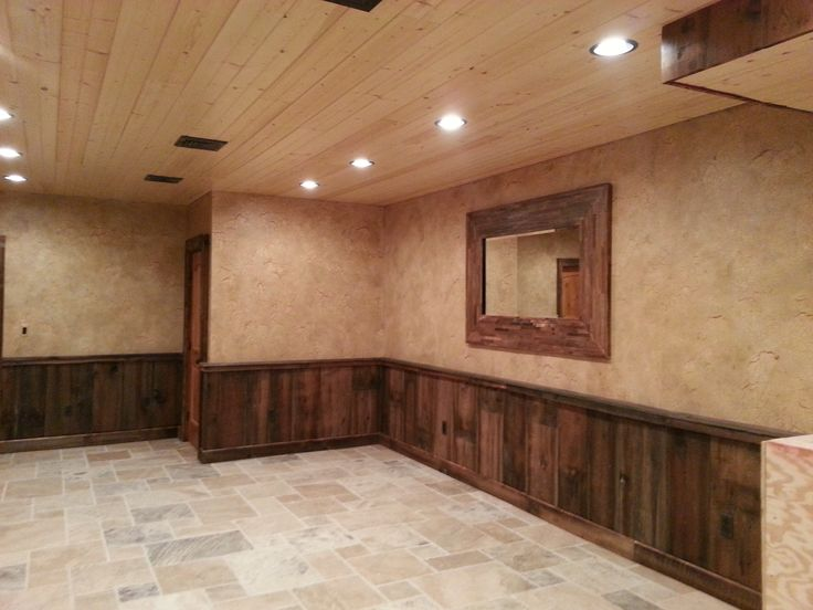 Crackled Finish Above Barn Wood Wainscoting Pennsylvania