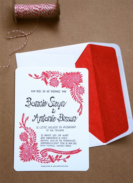 informal illustration matches the informal calligraphy - Bonnie & Antonie's illustrated delight - Blog - Seven Swans Wedding Stationery