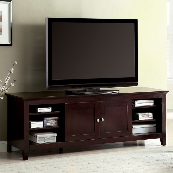 Furniture of America Harmos Transitional 72-inch Dark Cherry TV Stand (Dark Cherry), Brown
