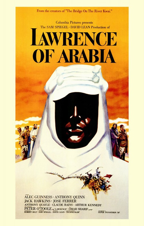 Lawrence of Arabia (1962) PG | 3h 36min |11 December 1962 (UK) - The story of TE Lawrence, the English officer who successfully united and lead the diverse, often warring, Arab tribes during World War 1 in order to fight the Turks.