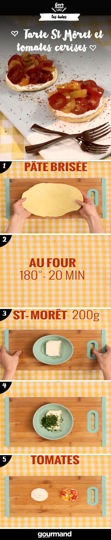 Savourez ces petites tartelettes au St Môret® et aux tomates cerises ! Simple et rapide, vous allez adorer cette recette !