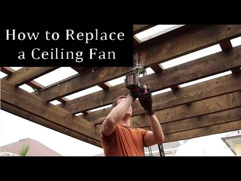 If you're thinking about installing a new ceiling fan, here's the easy ceiling fan install guide. The My Fix It Up Life team re-did their outside ceiling fan and walks you through the steps of replacing a ceiling fan on your own. #ceilingfan #howto #homeimprovement