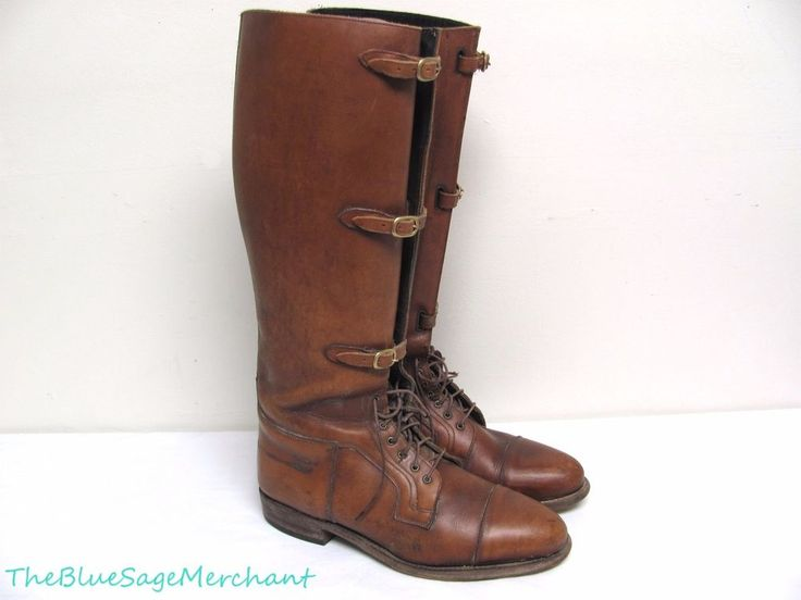 Ian HAROLD Mens Equestrian ARMITAGE Riding BOOTS sz 11.5 Leather 3-Buckle Polo