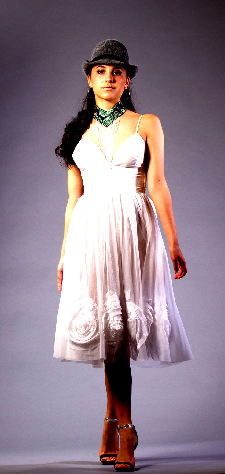 DERANGED FASHIONS  White Rose Dress