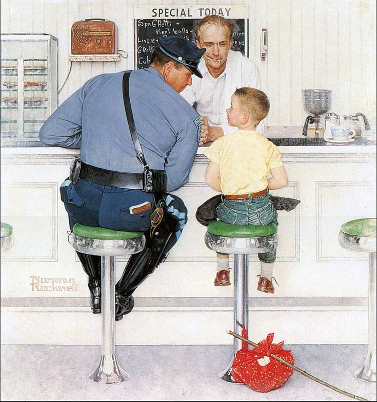 Originally a cover for the September 20, 1958 issue of the Saturday Evening Post, the painting is now in the collection of the Norman Rockwell Museum in Stockbridge, Massachusetts. Description from pinterest.com. I searched for this on bing.com/images