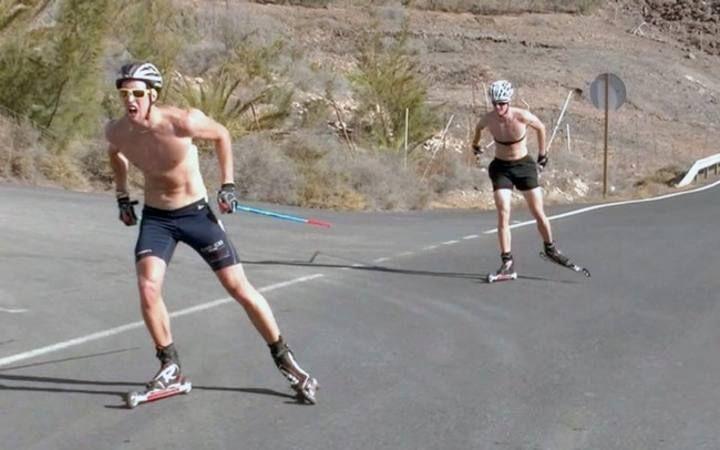 La selección de esquí de Suecia se entrena en Fuerteventura