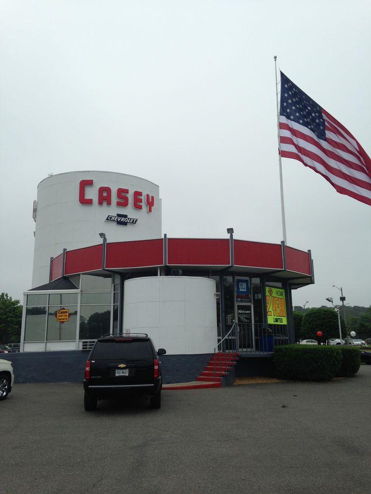 Vintage Casey Chevrolet building in Newport News, VA