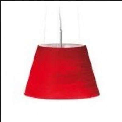 Colgante de vidrio rojo texturado
