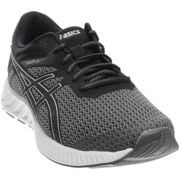 ASICS Men's Fuzex Lyte 2 Running Shoe, Black/Silver/White, 11.5 M
