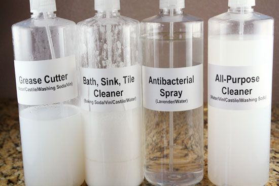 More homemade cleaners.