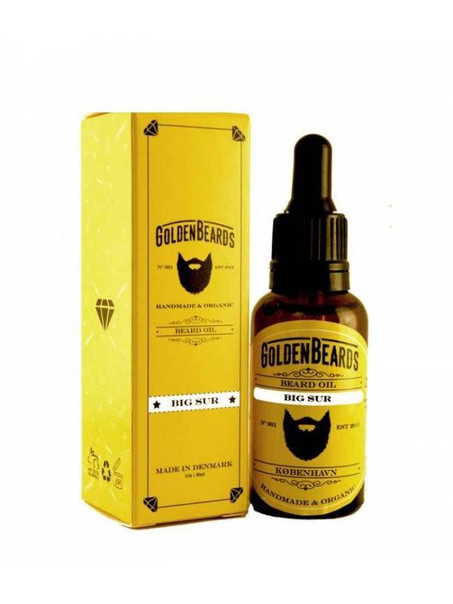 """Aceite para Barba orgánico """"Golden Beards Arctic"""", suaviza, hidrata y tonifica tu barba y piel con un veraniego aroma a Lima, Lavanda y Pachuli."""
