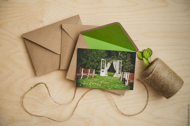 Купить конверт для фото - бежевый, крафт, конверт для фото, упаковка для фотографий, упаковка для фото