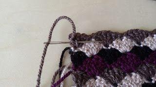 سلسلة تعليم الكروشيه : طريقة إخفاء نهايات الخيوط Sewing in ends of crochet pieces