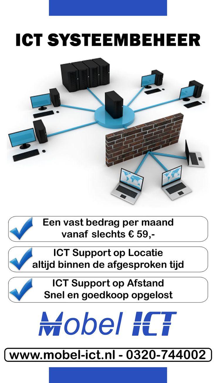 ICT Systeembeheer. va. €59 vast bedrag pm. 0320-744002 #Lelystad Mobel ICT www.mobel-ict.nl