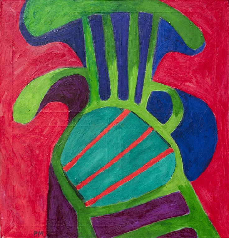 Green chair. 2014. Acrylic on canvas, 85x90