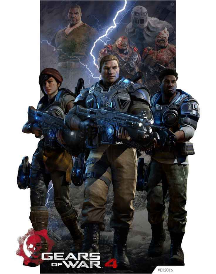 Gears Of War 4 E32016 by KindratBlack.deviantart.com on @DeviantArt