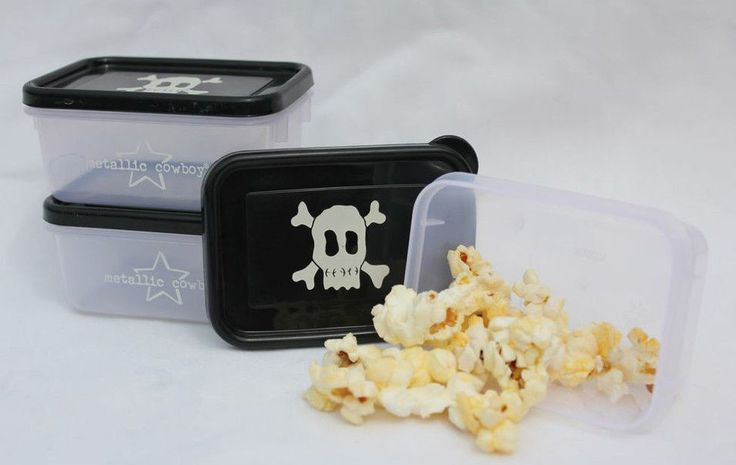 Black Skull Rectangle Container Set