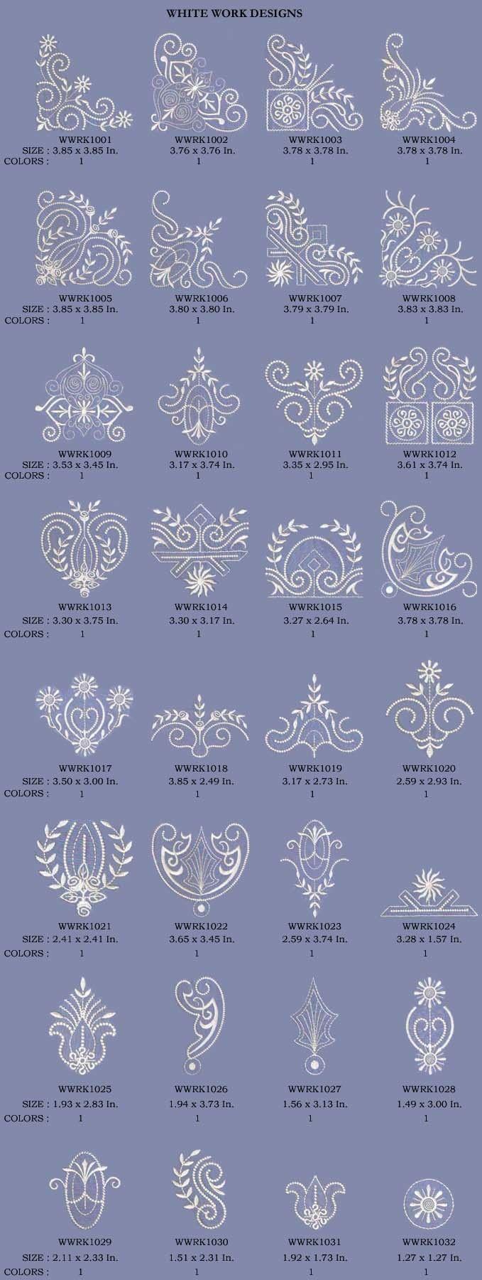 Декоративные Белый Мотив - Дизайн машинной вышивки на Behance
