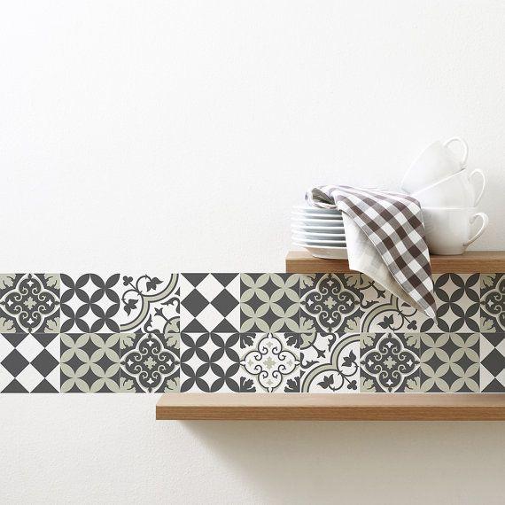 Mix tegel stickers keuken/badkamer tegels vinyl vloer tegels gratis verzending - ontwerp 312