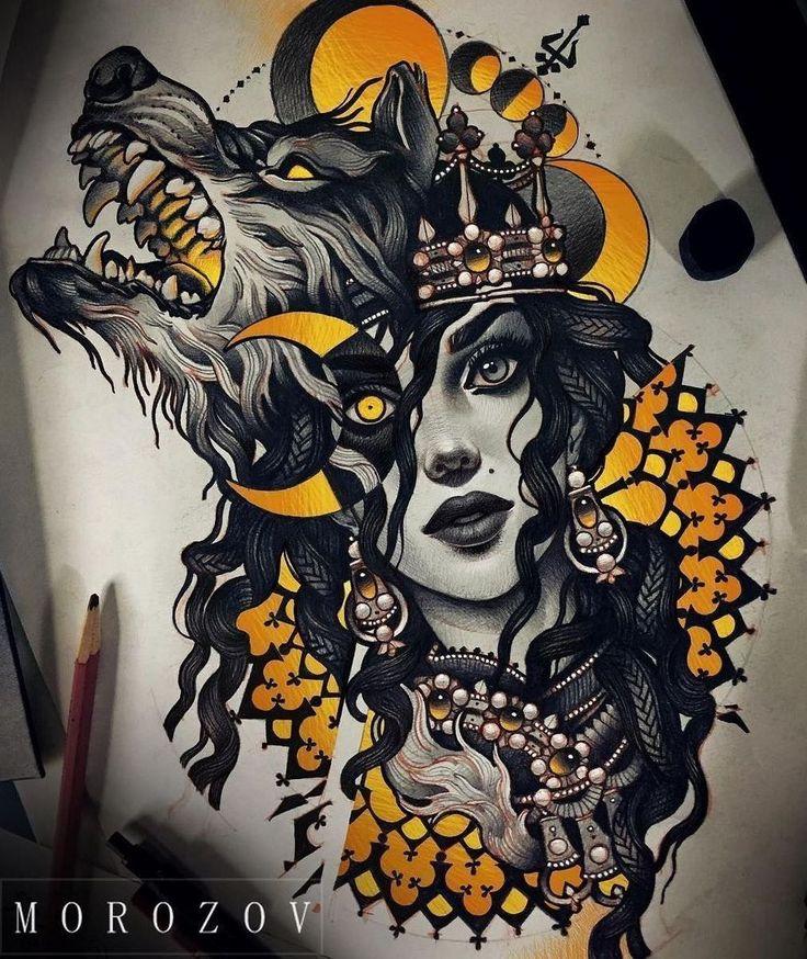 Эскизы татуировок с девушками. Десять лучших идей тату для мужчин и женщин за апрель 2017.
