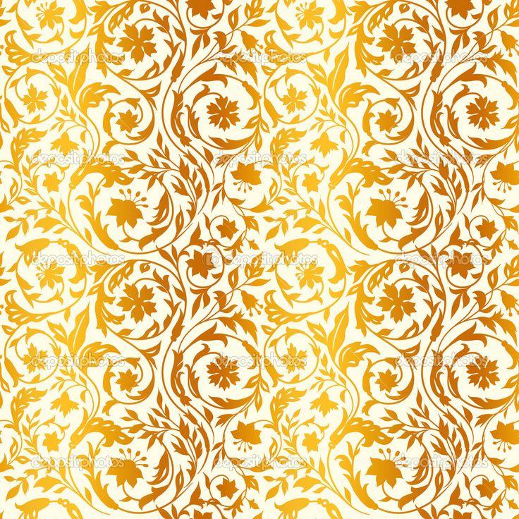 Scarica - Motivo floreale vintage senza soluzione di continuità con fiori stilizzati. nello stile del XIX secolo. beige chiaro con oro — Illustrazione stock #37652473