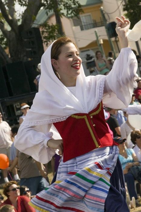 Woman in Kefalonian costume (Paniyiri Festival, Brisbane, Australia.) Kefalonia. Cephalonia.