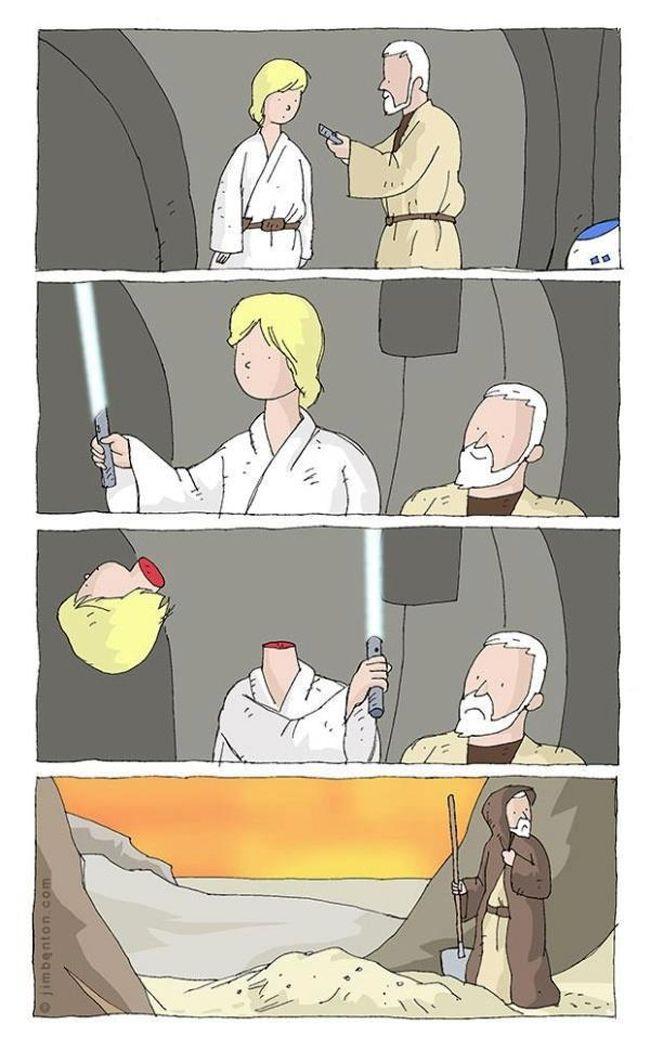 O primeiro sabre de luz a gente nunca esquece!