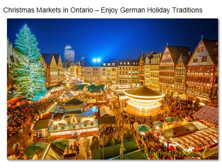 Christmas Markets Ontario ~ Enjoy German Holiday Traditions  http://angiesontario.ca/?p=645