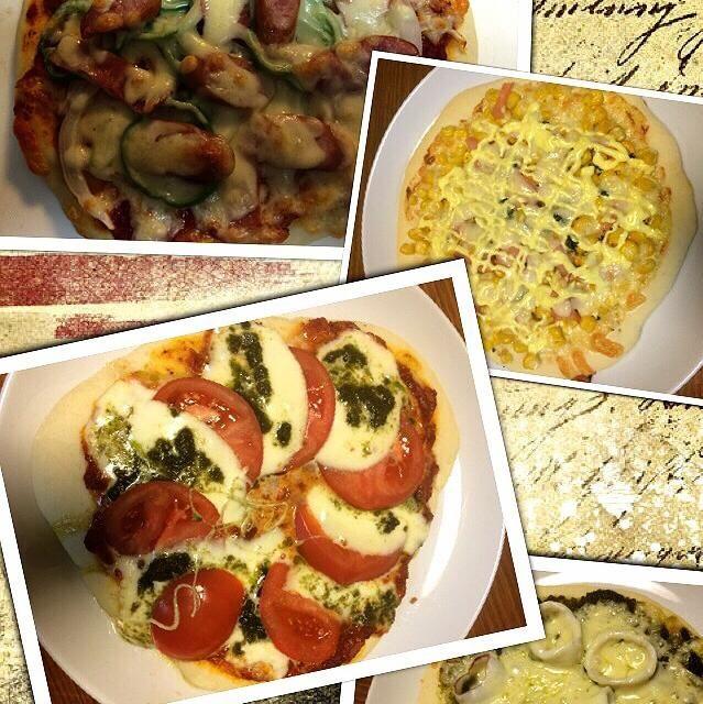 今日は、娘がお休みで一緒に食べれるので、ピザを焼いたよ(*^^*) うちはクリスピー生地です(´・Д・)」 トマトソースは大好きなともえちゃんのソースと、クララちんのジェノベーゼソース 焼きたて、美味しかった☆*:.。. o(≧▽≦)o .。.:*☆  *ウインナーベーコン *コーンマヨ *マルゲリータ *イカのジェノベーゼ - 74件のもぐもぐ - ピザパーティー by kamasann