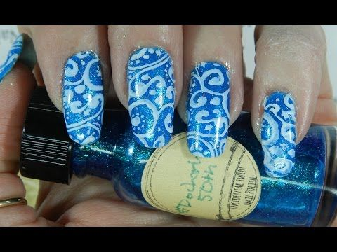 Nail Art Design Blue Nail Design Day 28  #itsmychristmasnails - http://47beauty.com/nails/index.php/nail-art-designs-products/  Hello      My next nail art design,  Bright Blue. This is Day 28 for the #itsmychristmasnails challenge.  I wanted to do something bright for this design.  Jen aka pueen_queen and I are hosting for the month of December. Pull out all your Christmas stuff and lets have some fun. Don't forget to tag Jen and I  you can find us both on Instagram he
