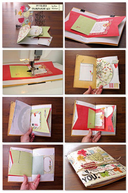 kim watson ★ paper crafts ★ designs: Mini album + Tutorial