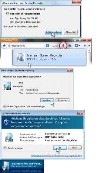 """Icecream Screen Recorder 4.50 Deutsch: """"Icecream Screen Recorder"""" ist eine praktische Freeware, die sowohl Screenshots als auch Desktop Videos schnell aufnehmen kann."""