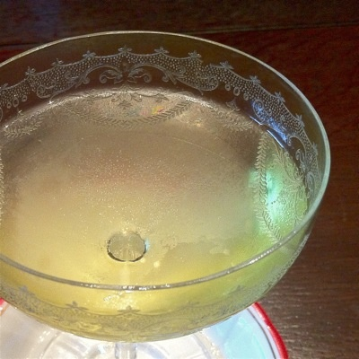 Recipe: Bols Alaska - 2 oz Bols Genever (gin), .75 oz Yellow Chartreuse, 2 dashes orange bitters... Stir with ice until properly chilled and adequately diluted. Strain into a chilled cocktail glass and garnish with oils from a lemon twist (discarded).