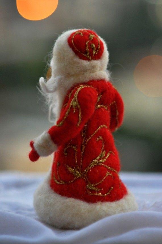 Needle felted Santa. Waldorf . For custom orders por darialvovsky