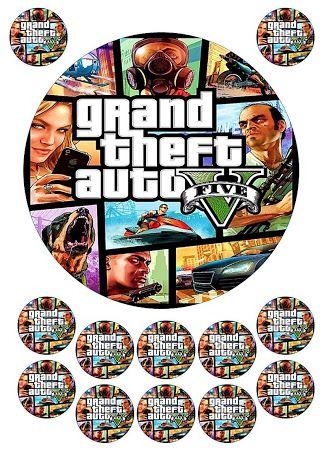 Grand Theft Auto Cake Decorations