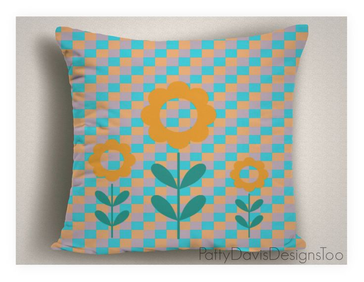 Decorative Throw Pillow Nursery Covers Turquoise Double Sided Washable