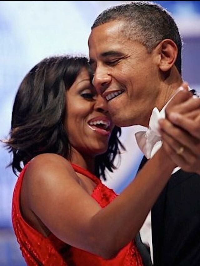 "President Barack Obama and his lovely wife danced to Jennifer Hudson singing Al Green's ""Let's Stay Together,"" during the Inaugural Ball (January 21, 2013). #ObamaLegacy #ObamaHistory #Obama44 #ObamaFoundation #ObamaLibrary Obama.org"