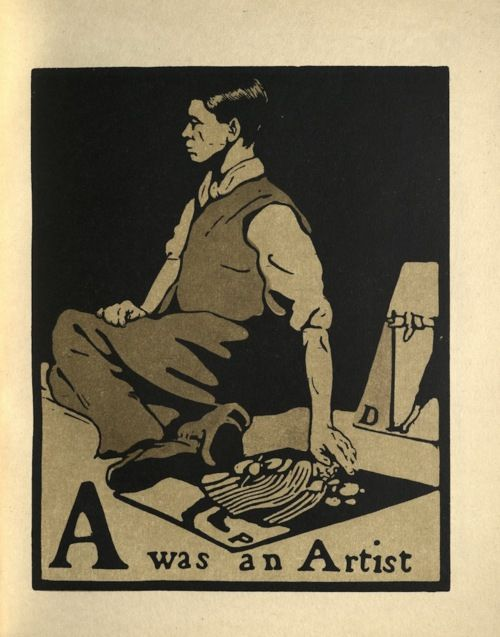 A is for Artist, by William Nicholson (1872 - 1949)