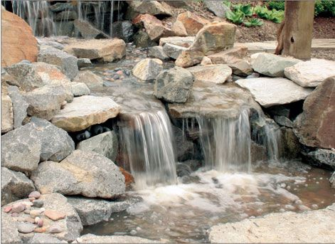 How to build a pondless waterfall outdoor living for Build your own waterfall pond