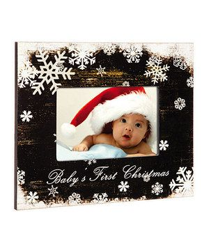 This Blossoms Buds Black Babys First Christmas Frame By