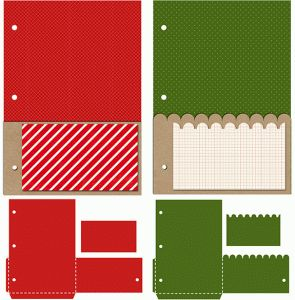 Silhouette Design Store - View Design #69288: 25 days of december 5 x 7 pocket pages