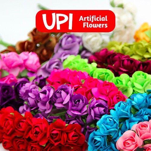 10lot 144pcs/lot Mini DIY Paper Decorative Flowers Rose Wedding Bouquet For Scrapbooking Wedding Decor Scrapbook Free Shipping