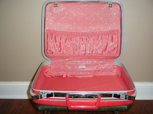 http://airlinepedia.net/pink-luggage.html The best and cutest pink luggage for ladies and kids. The trendiest designs and models of travel luggage which are all pink, yay! Retro Red Pink Luggage Samsonite Itsy Bitsy Polka Dot SuitcaseFrom DiscriminatingDames