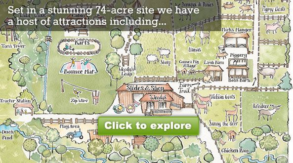 Bucklebury Farm Park. Under 2s go free. Voted in top 20 farm parks in UK
