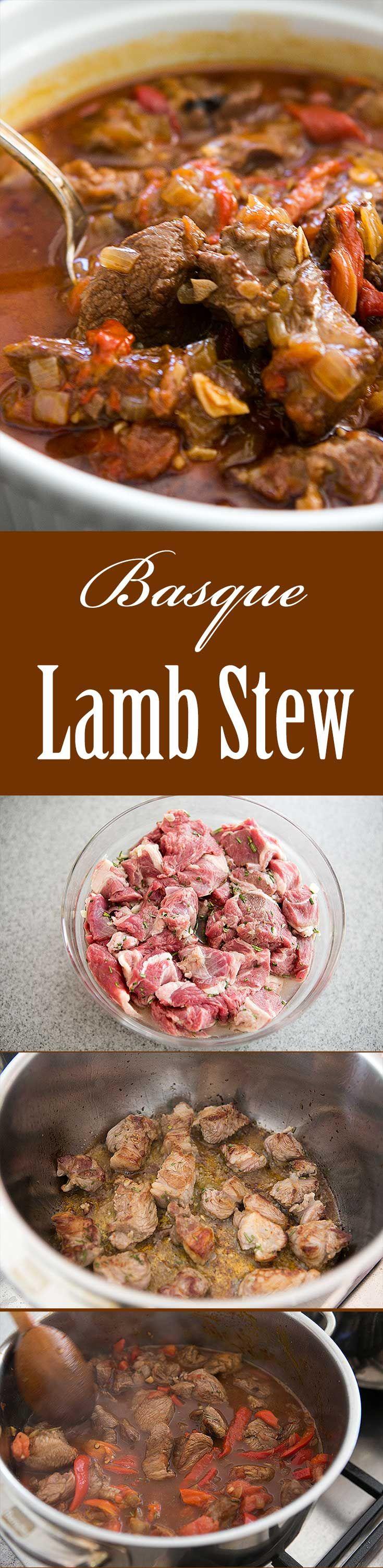 Basque Lamb Stew | Recipe | Marinated Lamb, Lamb Stew and Lamb ...