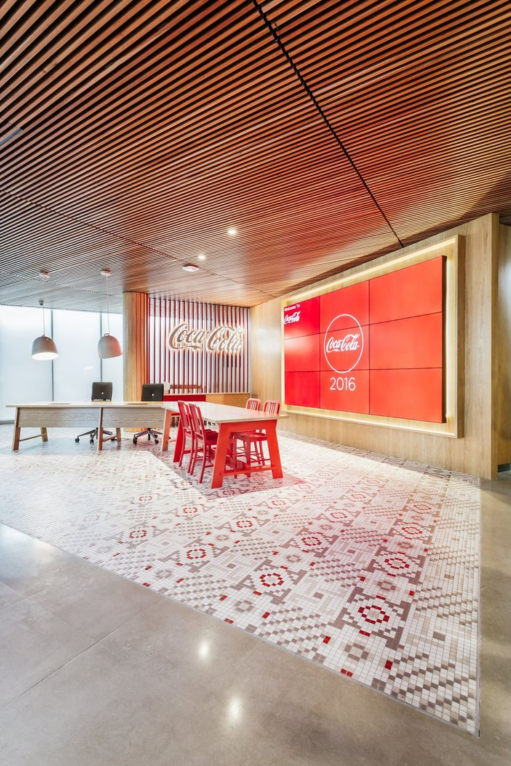 Reception and welcome area from Coca-Cola Offices – Madrid