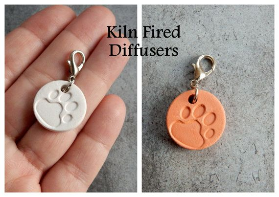 Essential Oil Diffuser Disc Pets Dog Cat by KilnFiredDiffusers