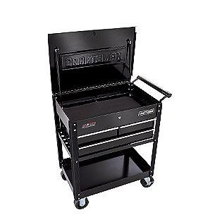 Craftsman 3-Drawer Ball-Bearing GRIPLATCH® Utility Cart - Black
