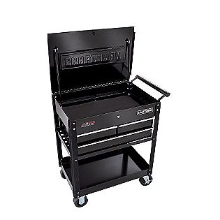 Craftsman 3-Drawer Ball-Bearing GRIPLATCH® Utility Cart - Black